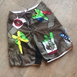 Billabong Camouflage & Peace Sign Board Shorts